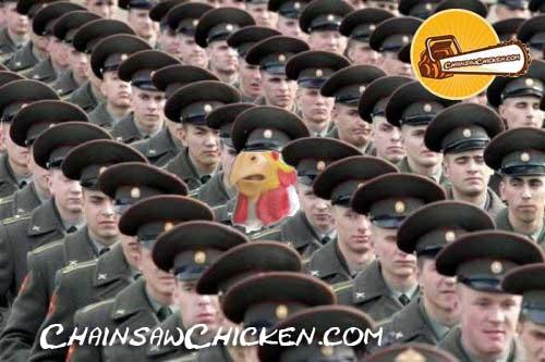 Eyes FRONT, Chicken!