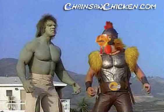 Lou with Chicken Warrior